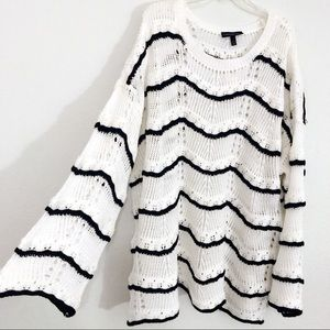 NWT Lane Bryant open knit sweater bell sleeves